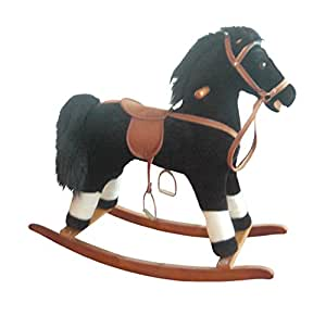 Small Plush Rocking Horse Color: Black and White