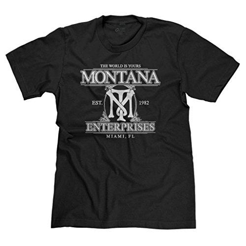 FreshRags Tony Montana Scarface Men's T-shirt Black LG