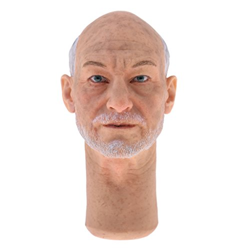 12' Figure Wolverine (Jili Online 1/6 Male Head Sculpt Accessory for 12 inch Professor X Old Charles Action Figure The Wolverine)