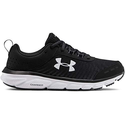 Under Armour Women's Charged Assert 8 Running Shoe, Black (001)/Black, 9 Wide