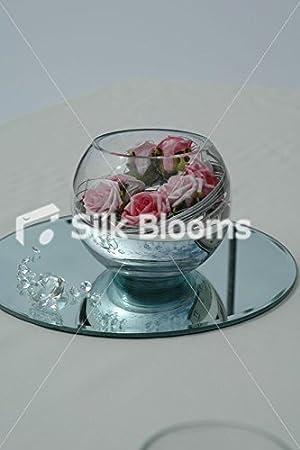 Mesa para boda de Rebecca Mary Cooper y pecera espiral de arreglo de rosas: Amazon.es: Hogar