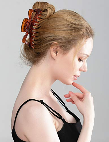 updo hairstyle put your hair up Premium Circle Colored Cubic Zirconia Large Hair Claw Clip