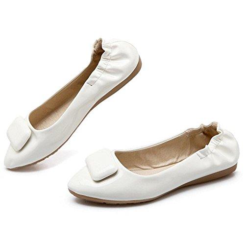 Taoffen Mocassins De Printemps Chaussures Plates Blanches
