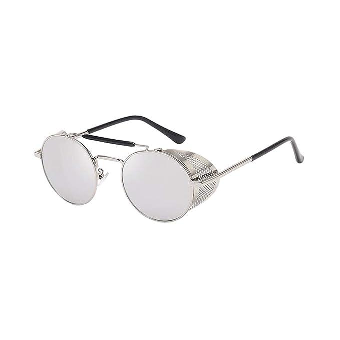 Deylaying Gafas de sol estilo retro estilo Steampunk Gafas ...