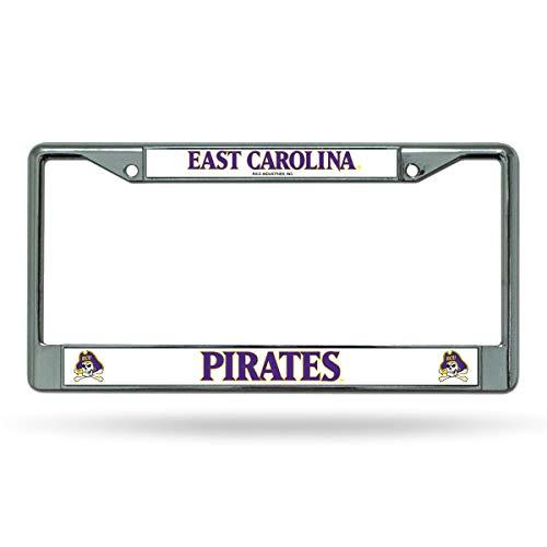 Rico (DEAD) East Carolina Pirates Chrome Metal License Plate Frame