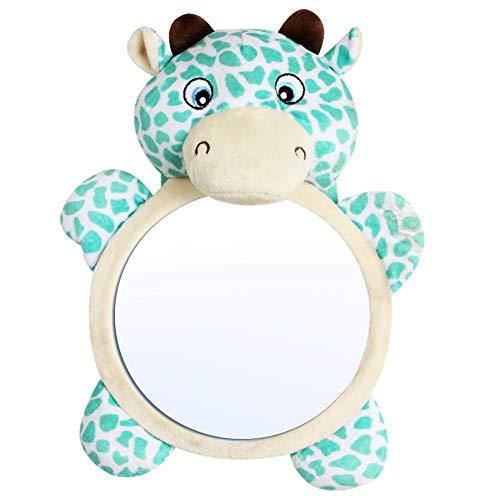 FANMURAN Asiento Trasero del Coche Ajustable Bebé Vista fácil Espejo Monitor Infantil para niños Bebé Espejos orientados...