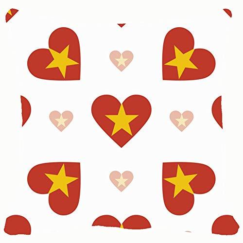 Vietnam Flag Heart Patriotic Throw Pillows Covers Accent Home Sofa Cushion Cover Pillowcase Gift Decorative 18x18 inches