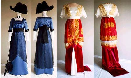 1900 -1910s Edwardian Fashion, Clothing & Costumes 1909-1913 Day or Evening Dress                               $13.95 AT vintagedancer.com