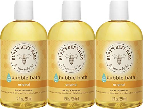 Burts Bees Baby Bubble Bath, Tear Free Baby Wash - 12 Ounce Bottle - Pack of 3