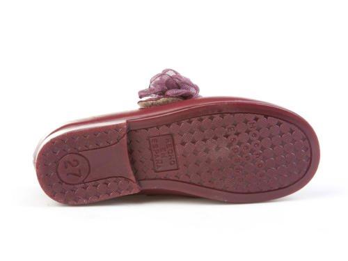 Merceditas Leder für Mädchen alle Mod. 520. Kinderschuhe Made in Spain, Hohe Qualität. Bordeaux