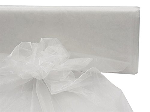 BalsaCircle 54-Inch x 40 Yards White Sheer Organza Fabric by The Bolt - Wedding Party DIY Sewing Craft Draping Supplies