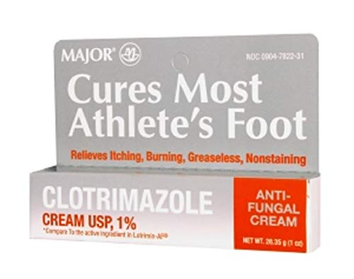 MAJOR CLOTRIMAZOLE ANTIFUNGAL 1% CREAM CLOTRIMAZOLE-1 % White 28.35 GM UPC 309047822317