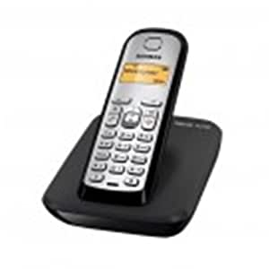Siemens AS290 Trio - Teléfono fijo digital (inalámbrico, pantalla LCD, identificador de llamadas), negro y plateado