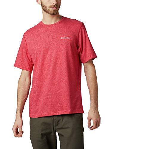 Columbia Men's Thistletown Park Crew, Sun Protection, Breathable, Mountain Red Heather, 4X