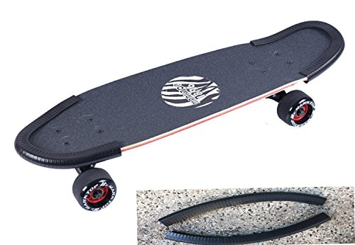 DreamFire Skateboard Nose Guard Tail Guard Edge Protection Rubber Strip Longboard Deck Edge Protector for Kids, Boys, Girls, Youths, Beginners