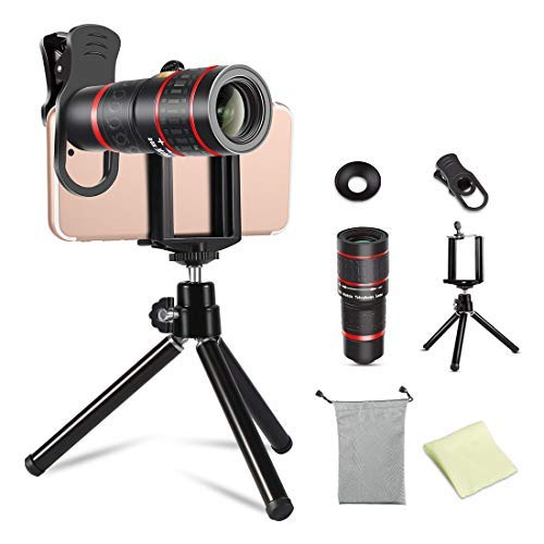 huge discount f3778 e52a9 MELIFE 20X Zoom Cell Phone Telephoto Lens, Universal Clip On Mobile Phone  Optical HD Camera Lens Kits, Portable Camera Attachment for iPhone ...