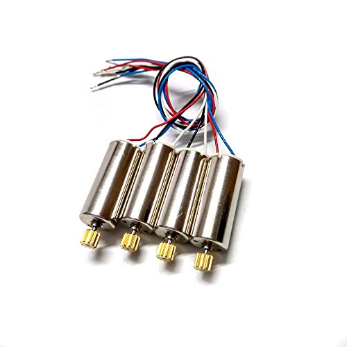 Gecoty Original 4Pcs Motor with Metal Gear CW CCW Spare Parts for Hubsan X4 H502S H502E RC Quadcopter
