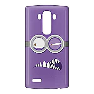 Loud Universe LG G4 Evil Minion Face Print 3D Wrap Around Case - Purple