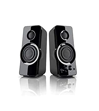 Blackweb 2 0 Powerful Speaker System with AUX-in jack for PC, NB, MP3 and  other 3 5mm audio devices 2 5W x 2