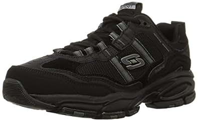 Skechers Sport Men's Vigor 2.0 Trait Memory Foam Sneaker,Black,6.5 M US