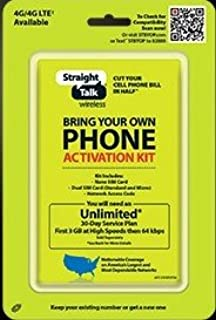 Amazon com: Straight Talk Sim Card (standard size) and Activation