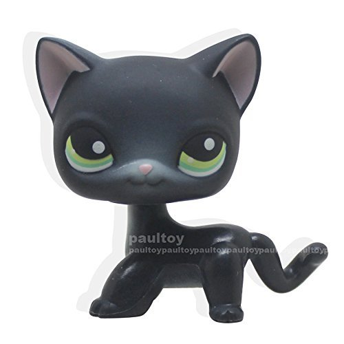 good luck store LPS Littlest Pet Shop Black Siamese Cat Shorthair Kitty Animal LPS Toy +GIFT BOX by Littlest Pet Shop