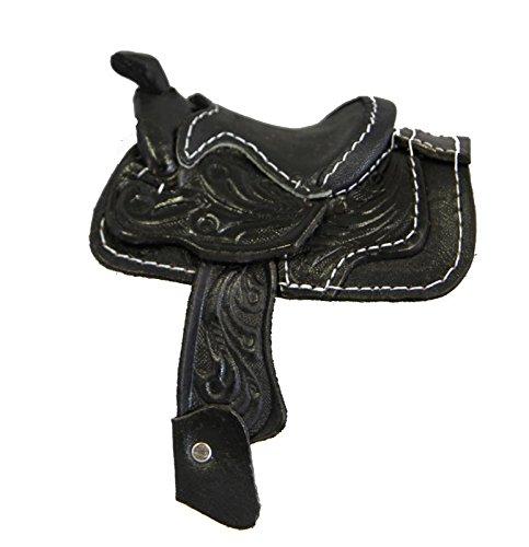 (Miniature Saddle Display Genuine Tooled Leather 2