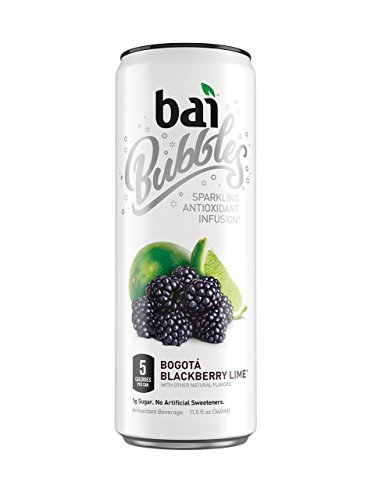 - bai5 Bubbles BQDfvs Sparkling Antioxidant Infusion, Bogota Blackberry Lime (Pack of 2)