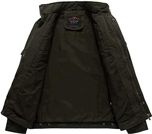 Jacket Leisure Stand Coat Outerwear Pocket Long Armygrün Apparel Multi Huixin Fashion Collar Warm Men Autumn Jacket Sleeve Classic Men's Coat UITXZ