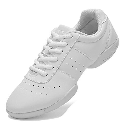 Trainer YIBLBOX Performance Ballsaal Sneakers Dance Frauen und Männer Sportschuhe Modern Weiß Jazz Boost 4qBvf
