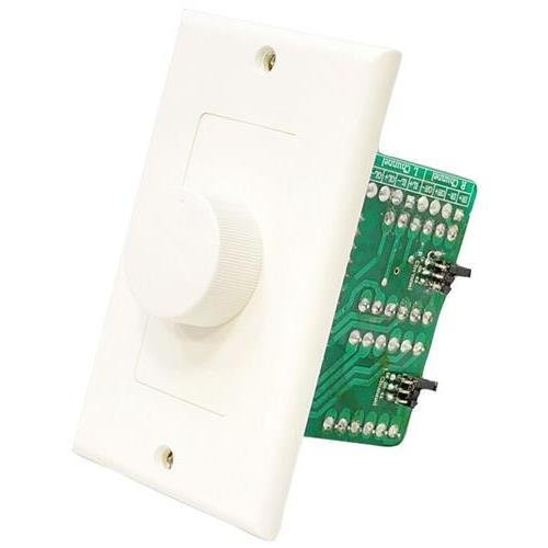 PyleHome PVCKT5 Wall Mount Rotary Volume Control Knob (3 Color Wall Plate)