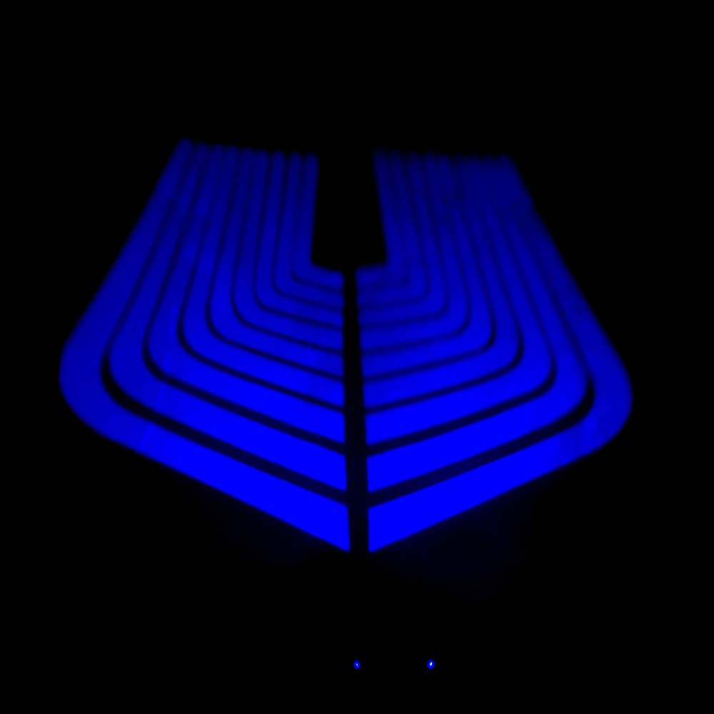 CLighting LED Auxiliary Lights Angel Wings Driving Rock Lamp for Car Motorcycles Jeep Trucks Off Road Bicycle Kawasaki Harley ATV SUV Vehicle Boat Red
