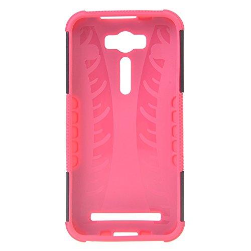 Asus Zenfone 2 Laser ZE500KL (5.0 inches) Funda,COOLKE Duro resistente Choque Heavy Duty Case Hybrid Outdoor Cover case Bumper Para Asus Zenfone 2 Laser ZE500KL (5.0 inches) - Rosa Rosa