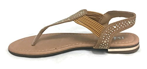 Anna Slip-on Strand Strass Gladiator Sandalen Casual Mode Chic Sandalen Tan