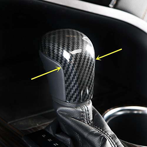 - ZiWwen Sport Style Carbon Fiber Print Gear Shift Knob Cover Trim for Toyota Camry 2018 2019 Avalon 2019 Corolla Hatchback 2019