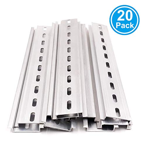 Erayco 20 Pieces DIN Rail Slotted Aluminum RoHS 8