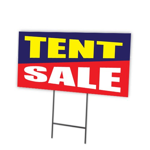 Double Sided Tent Sign - Tent Sale Full Color Double Sided Sign