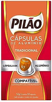 Cápsulas de Café Espresso 7 Pilão com 10 Cápsulas