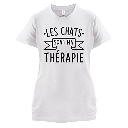 Les chats sont ma thérapie - Femme T-Shirt - Blanc - S