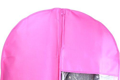 Kernorv Garment Bags for Dance Costumes, Set of 5 Breathable Dust-proof Garment Bags 51'' Dance Garment Bags with Clear Window for Dance Costumes, Dress, Jacket, Storage or Travel (Pink) by Kernorv (Image #5)