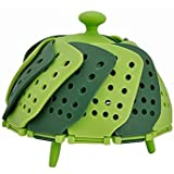 Folding Retractable Lotus Steamer Basket for Steaming Food and Vegetable Fruit Plate