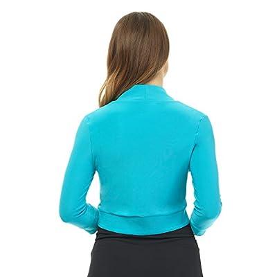 Rekucci Women's Soft Knit Rounded Hem Stretch Bolero Shrug at Women's Clothing store