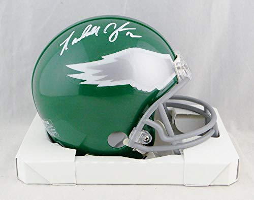 Randall Cunningham Signed Eagles 74-95 TB Mini Helmet- Beckett Auth White