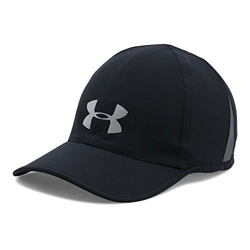 Under Armour Men's Shadow Cap 3.0, Black/Black, One Size (Under Armour Running Cap)