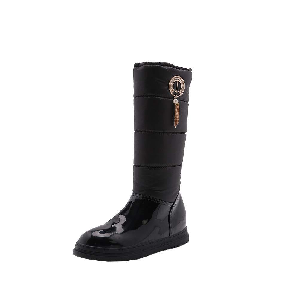 Damen Stiefel Frauen Flache Ferse Dicke untere warme warme warme Schneeschuhe de61ad