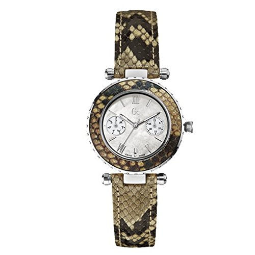 Guess Collection Women's Multicolor Leather Band Steel Case Quartz MOP Dial Analog Watch X35005L1S