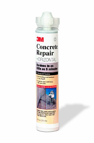 (3M Concrete Repair Self-Leveling Gray, 8.4 oz Cartridge/2 mix nozzles )