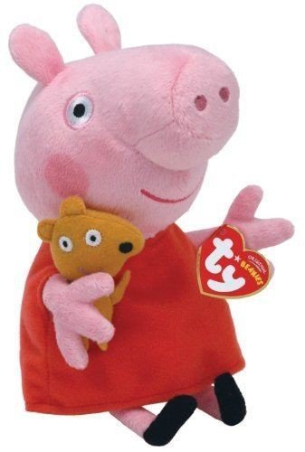 Stkertools(TM) Ty Beanie Babies Peppa Pig Regular Plush, - Baby Beanie Pig Stuffed
