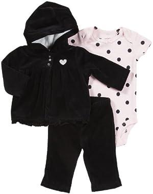 Baby Girls Holiday 3-pc Cardigan Set