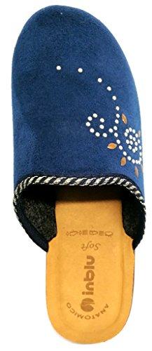 Inblu pantofole ciabatte invernali da donna art. KL-63 blu